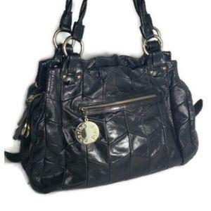Charles David Black Leather Handbag Purse